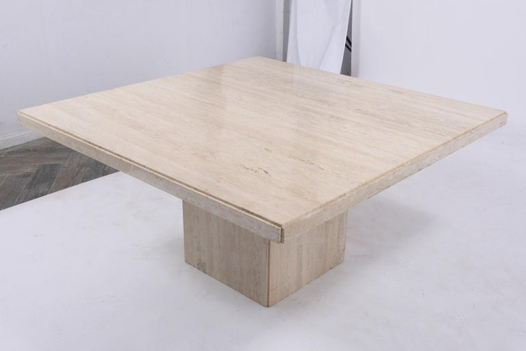 Mid-20th Century Italian Travertine Stone Dining Table For Sale