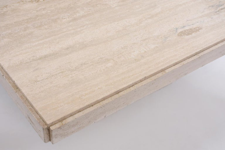 Italian Travertine Stone Dining Table For Sale 1
