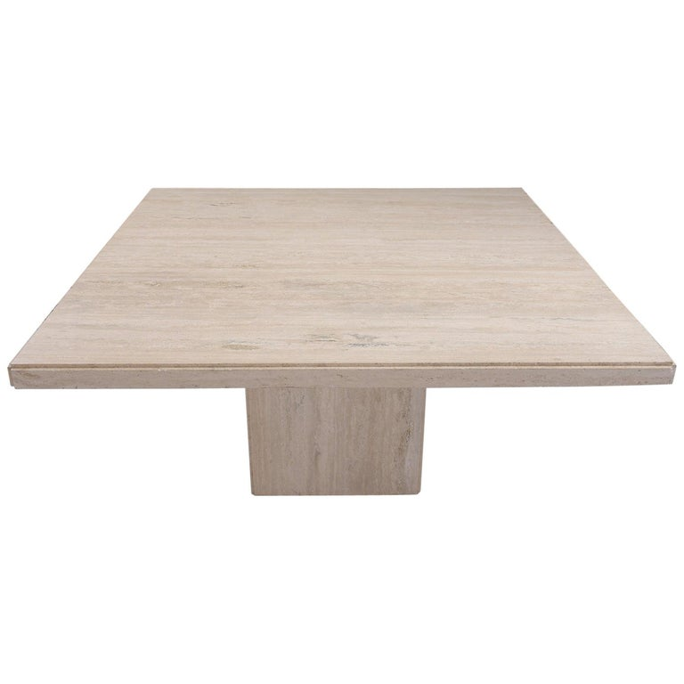 Italian Travertine Stone Dining Table For Sale