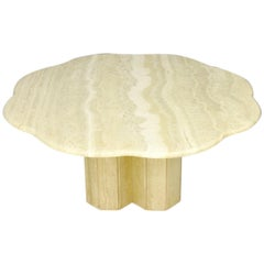 Italian Travertine Coffee Table 1970s