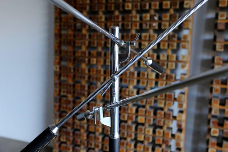 Enameled Italian Triennale Floor Lamp For Sale