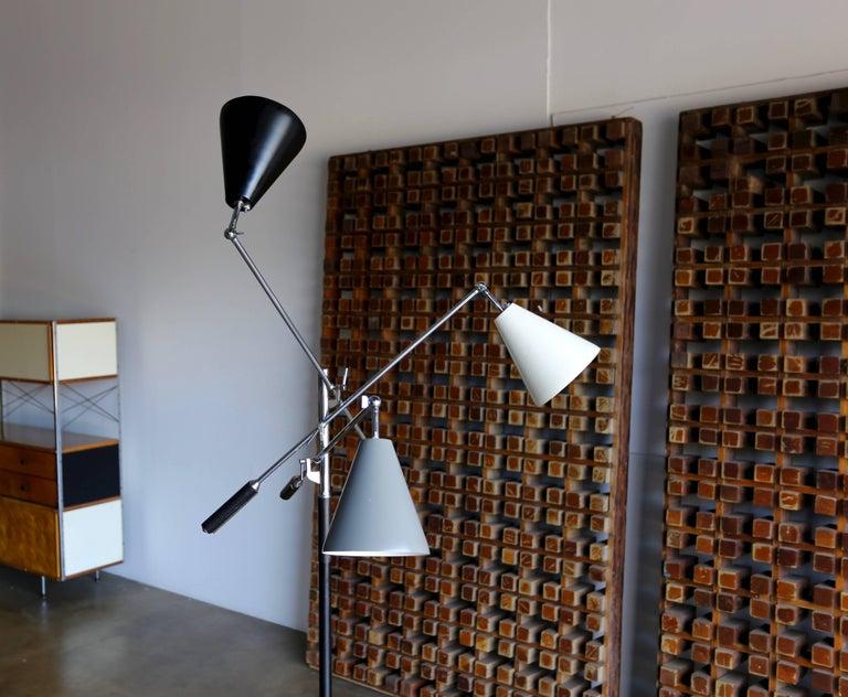 Aluminum Italian Triennale Floor Lamp For Sale