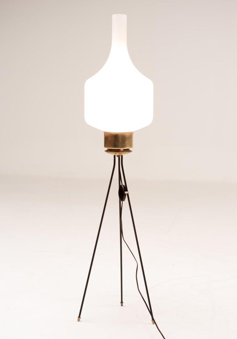 Enameled Italian Tripod Floor Light For Sale
