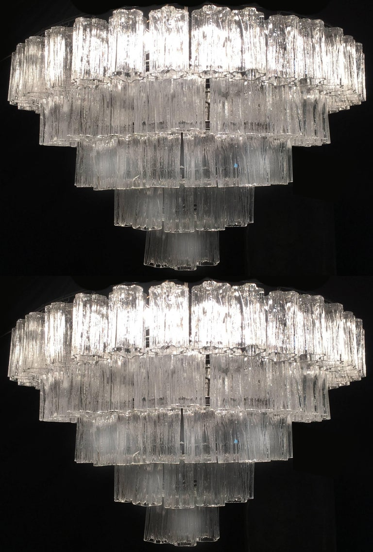 Italian Tronchi Chandelier Toni Zuccheri for Venini Style, Murano In Good Condition For Sale In Budapest, HU