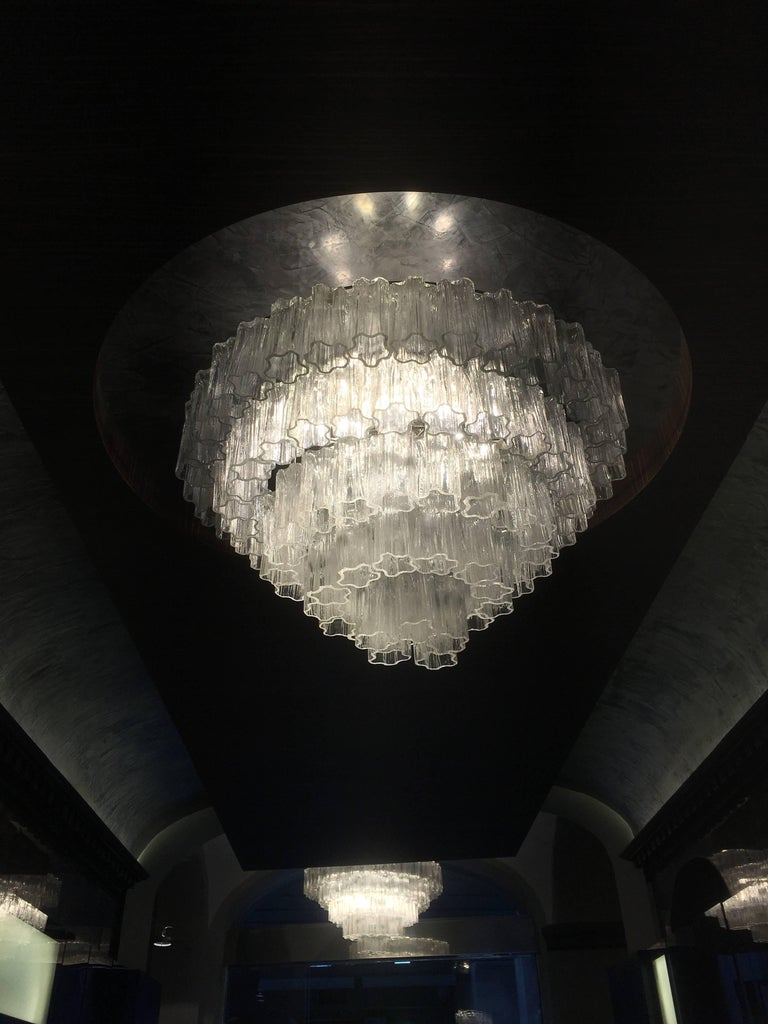 Metal Italian Tronchi Chandelier Toni Zuccheri for Venini Style, Murano For Sale