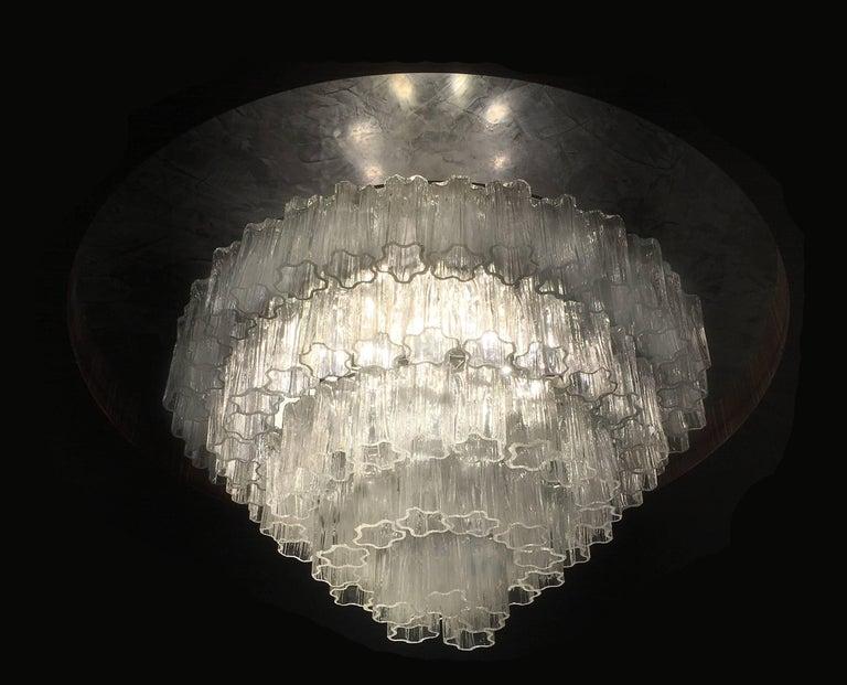 Italian Tronchi Chandelier Toni Zuccheri for Venini Style, Murano For Sale 1