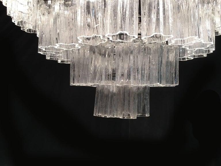 Italian Tronchi Chandelier Toni Zuccheri for Venini Style, Murano For Sale 3