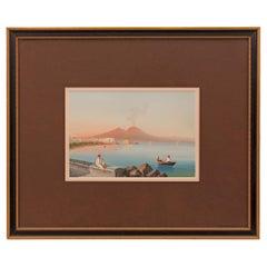 Italian Turn of the Century Gouache of the Bay of Naples