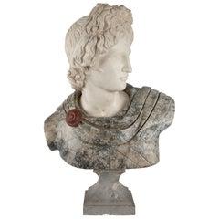 Italian Turn of the Century Marble Bust of a Roman Emperor