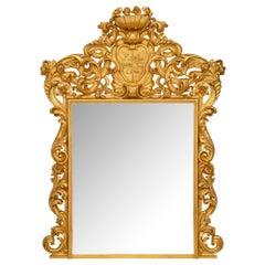 Italian Turn of the Century Roman Giltwood Mirror