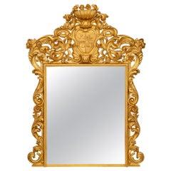 Italian Turn-of-the-Century Roman Giltwood Mirror