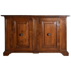 Italian, Tuscany, Baroque Walnut 2-Door Credenza, 17th Century and Later