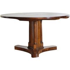 Italian, Tuscany, Walnut Circular Dining or Center Table, Tilt-Top, early 19thc