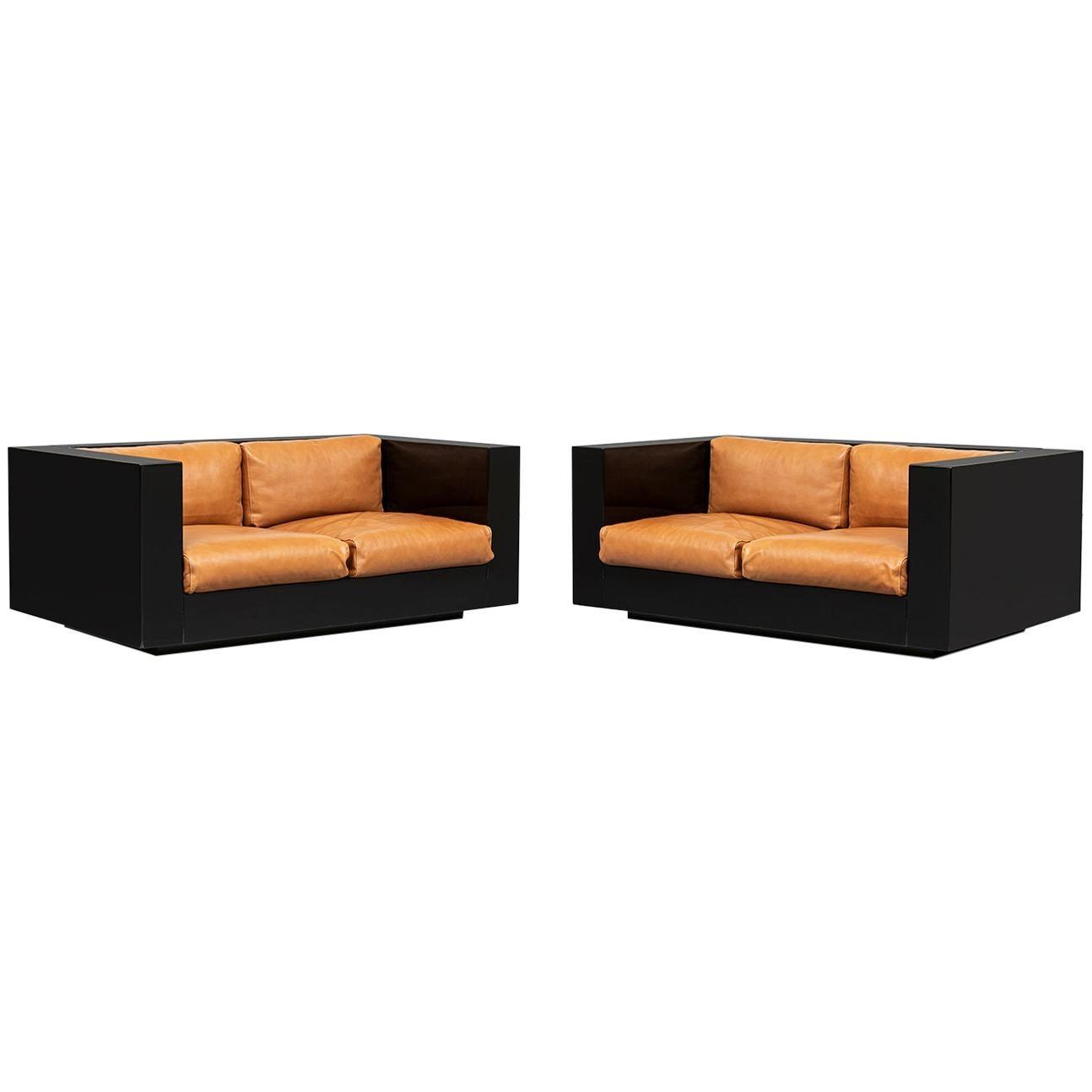 Italian Two-Seater Saratoga Sofas, by Vignelli Associates for Poltronova, 1964