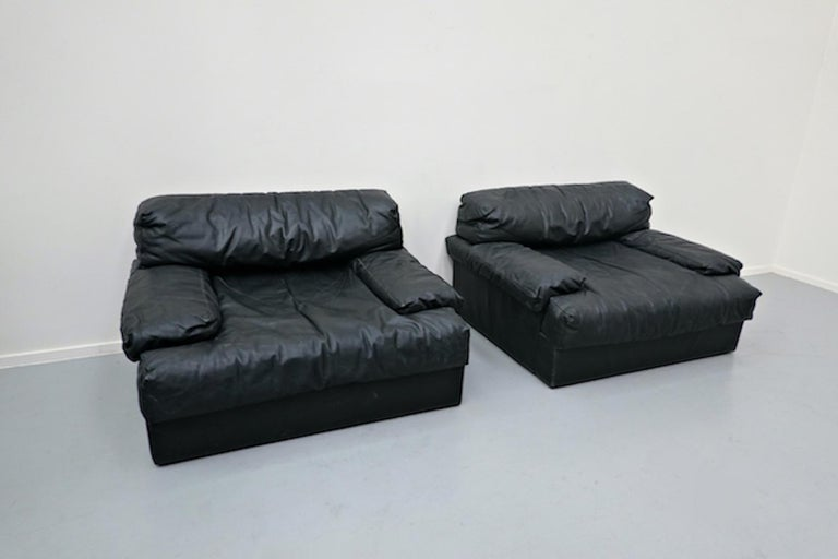 Italian Two-Seat Sofa, Leather, 1960s For Sale 6