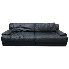 Italian Two-Seat Sofa, Leather, 1960s