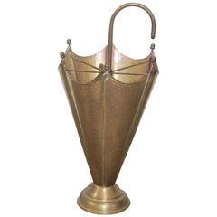 Italian Umbrella Stand 1950s Brass