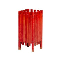 Italian Umbrella-Stand in Painted Wood, by Ettore Sottsass for Poltronova, 1962