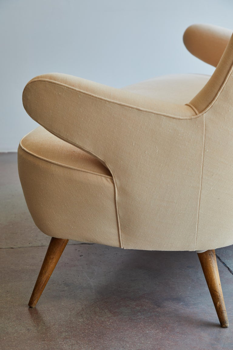 Italian Upholstered Sofa For Sale 7