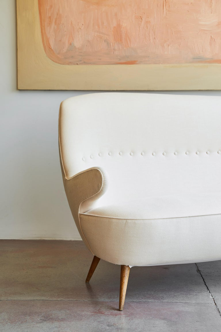 Italian Upholstered Sofa In Good Condition For Sale In Los Angeles, CA