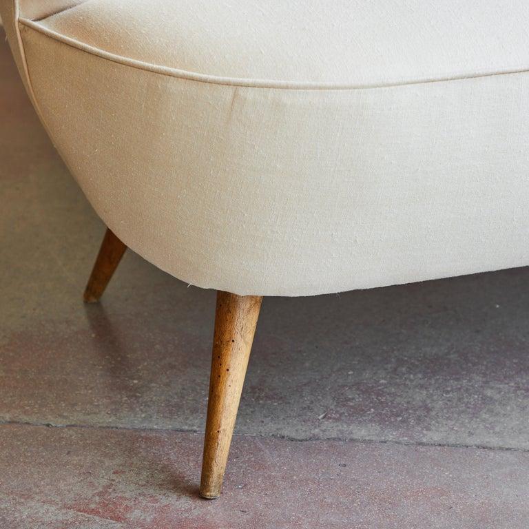 Italian Upholstered Sofa For Sale 1