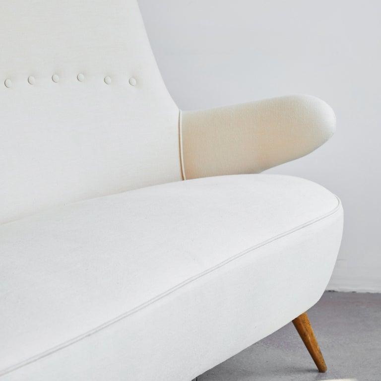 Italian Upholstered Sofa For Sale 2