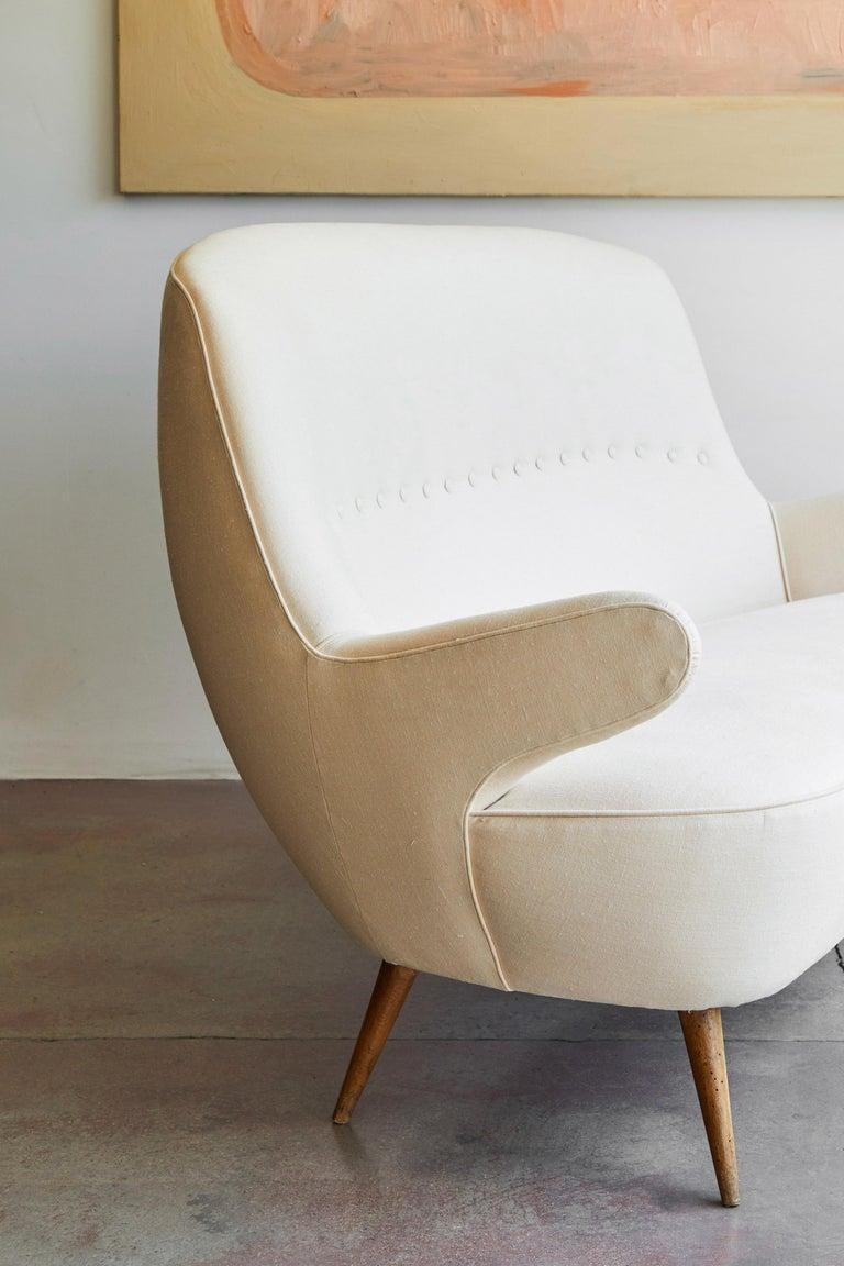 Italian Upholstered Sofa For Sale 3