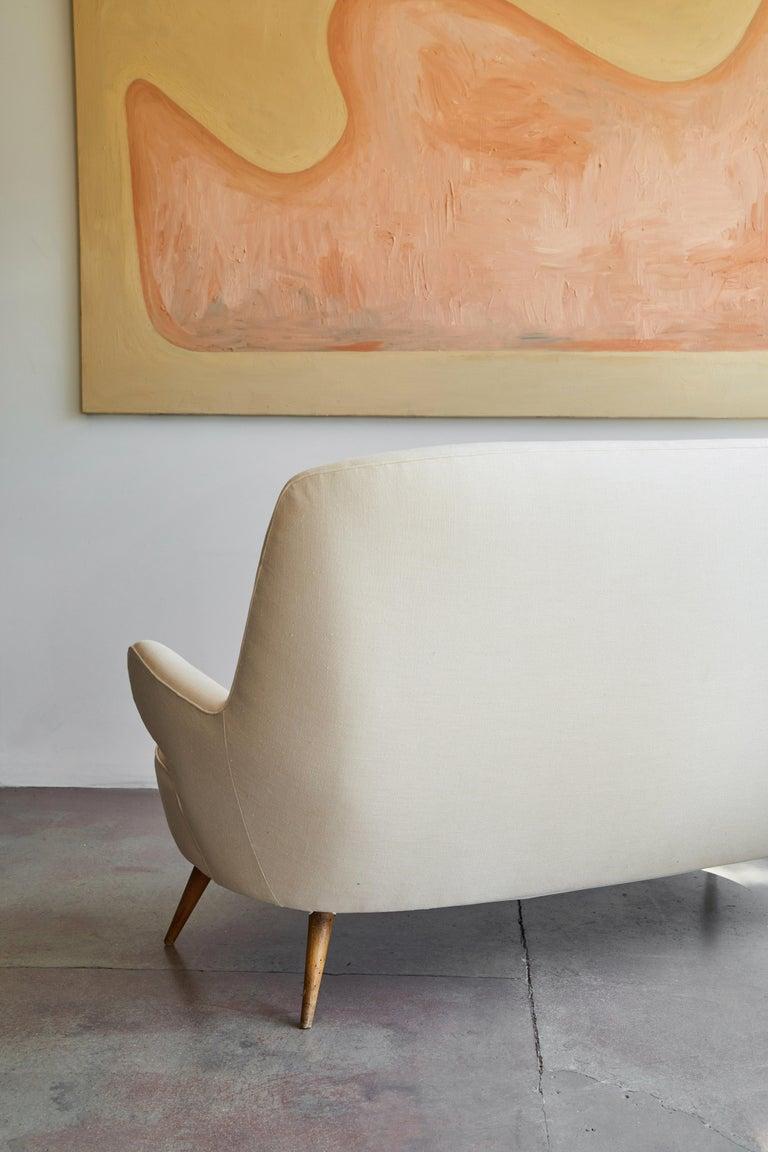 Italian Upholstered Sofa For Sale 4