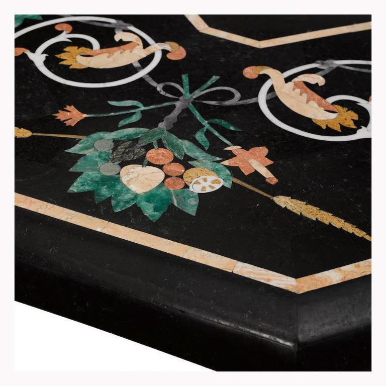 Italian Variegated Marble Inlaid Dining Table For Sale 13