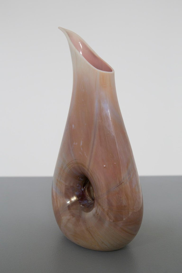 Mid-Century Modern Italian Vase Chalcedony by Aureliano Toso Attributed to Dino Martens, 1950s For Sale