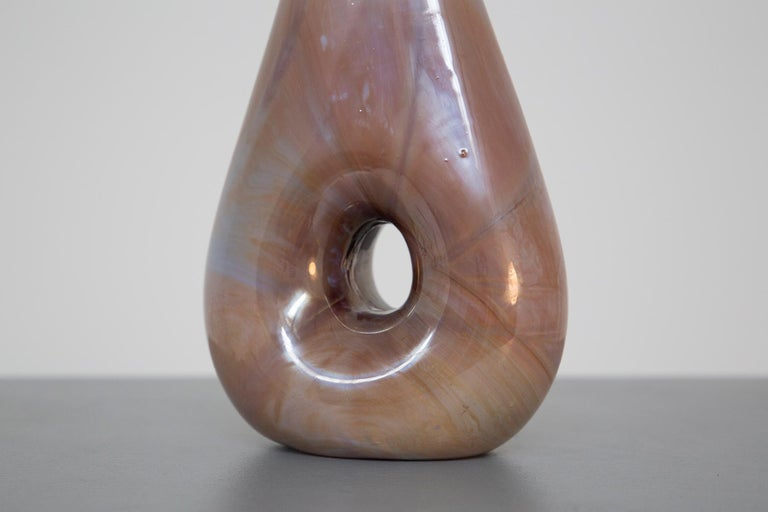 Italian Vase Chalcedony by Aureliano Toso Attributed to Dino Martens, 1950s In Excellent Condition For Sale In Milano, IT