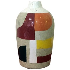 Italian Vase in Marble Powder with Parts Decorated, 1950s