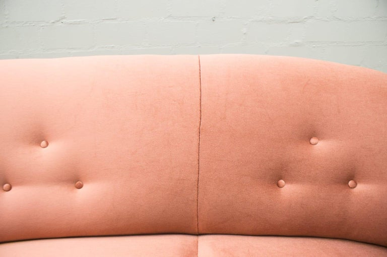 Italian Velvet Living Room Set, 3-Seat Sofa and 2 Armchairs 1960s For Sale 9
