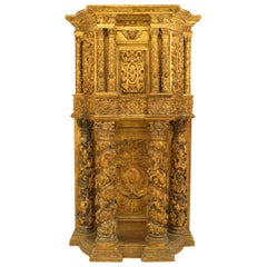 Italian Venetian Carved and Gilt Cabinet