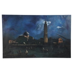 Italian Venetian Canals at Dusk Oil Painting on Canvas