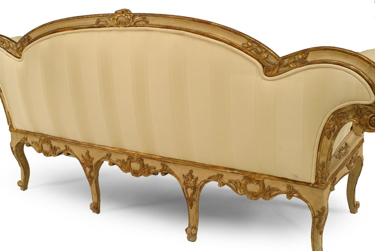 Upholstery Italian Venetian Carved Floral Settee For Sale