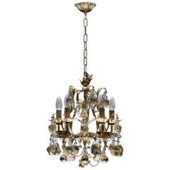 Italian Venetian Chandelier with 24-Karat Gold Embedded Murano Glass