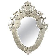 Italian Venetian Etched Mirror