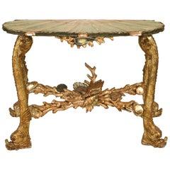 Italian Venetian Grotto Style '19th Century' Console Table