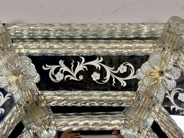 Italian Venetian Mirror, circa 1930s For Sale 6