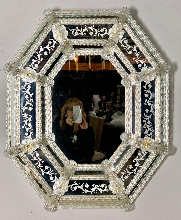 Italian Venetian Mirror, circa 1930s For Sale 8