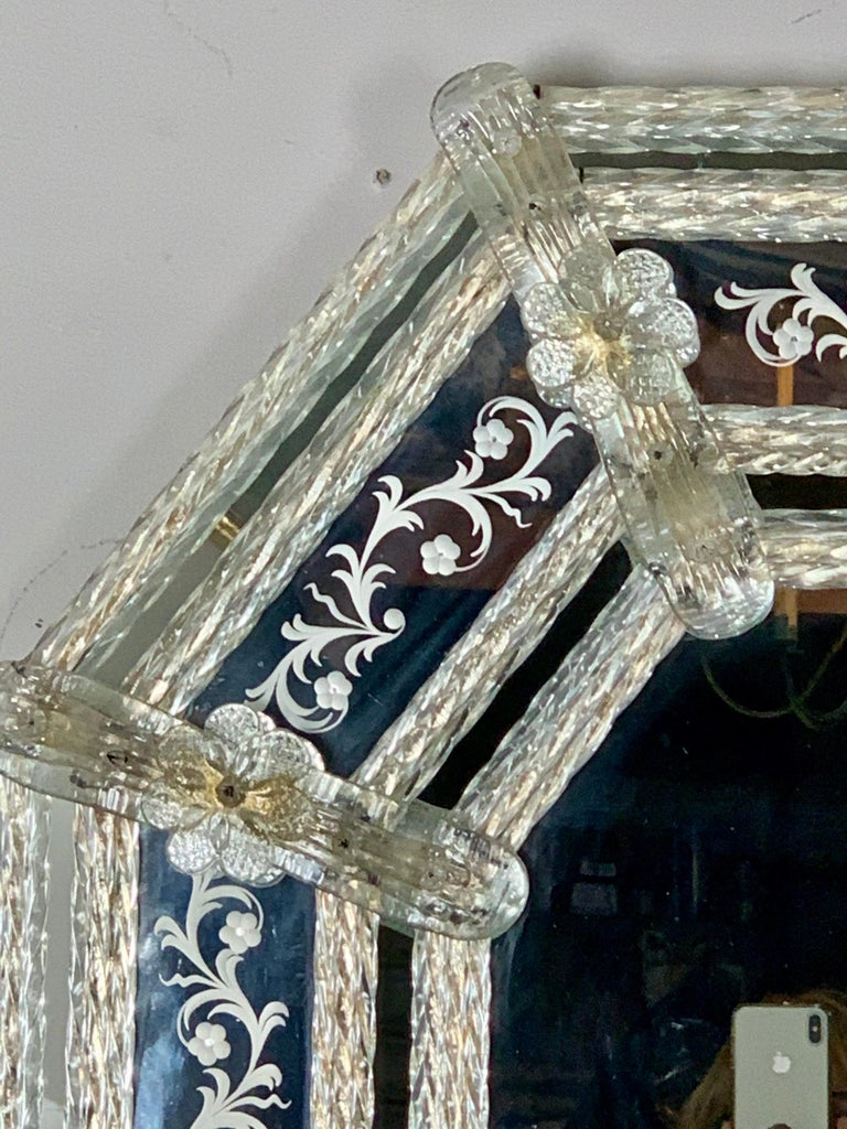 Hand-Crafted Italian Venetian Mirror, circa 1930s For Sale