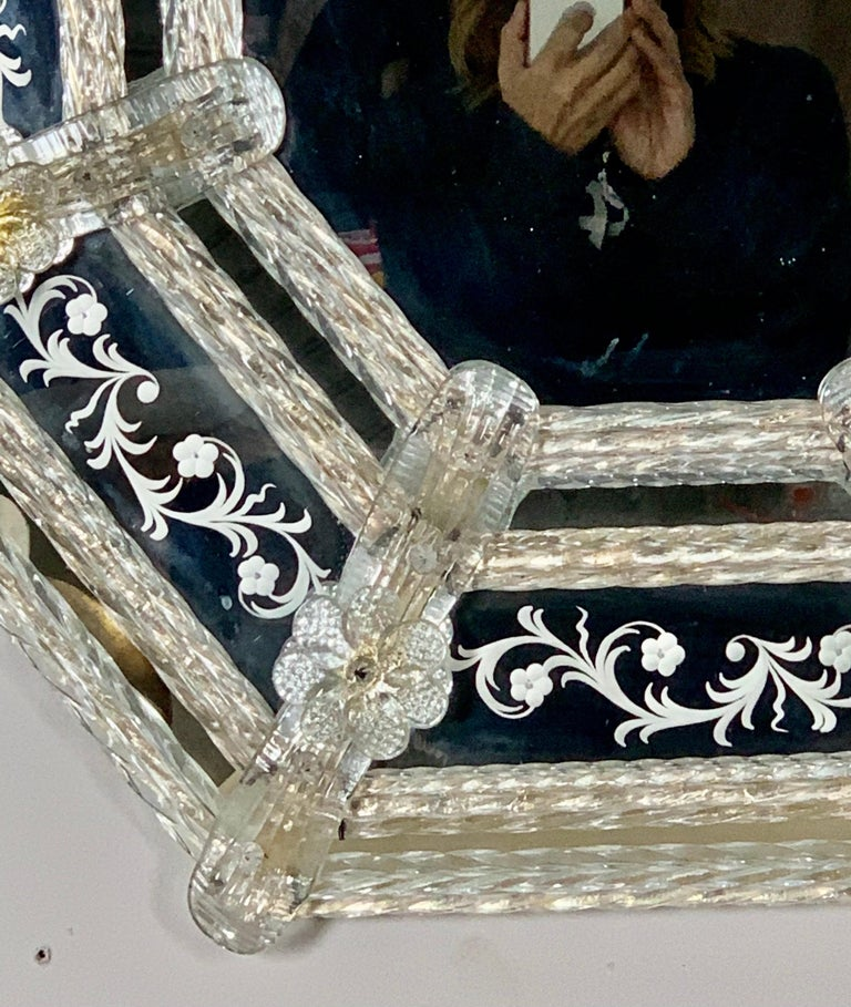Mid-20th Century Italian Venetian Mirror, circa 1930s For Sale