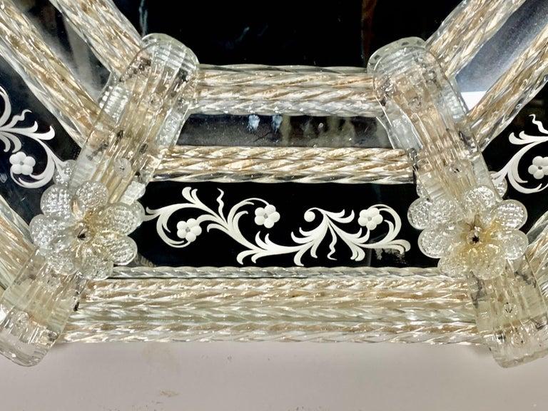 Italian Venetian Mirror, circa 1930s For Sale 2