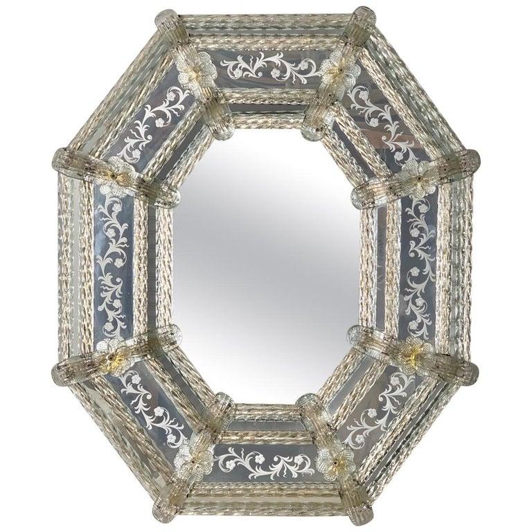 Italian Venetian Mirror, circa 1930s For Sale