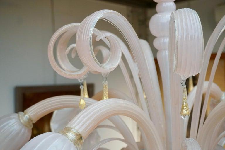 Italian Venetian Murano Glass Chandelier For Sale 1