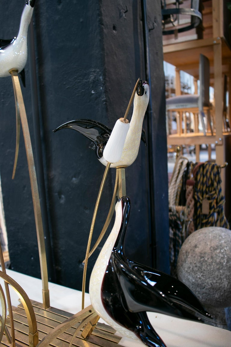 Lucio Zanetti Italian Venetian Murano Glass Figure Sculpture of Goose For Sale 7