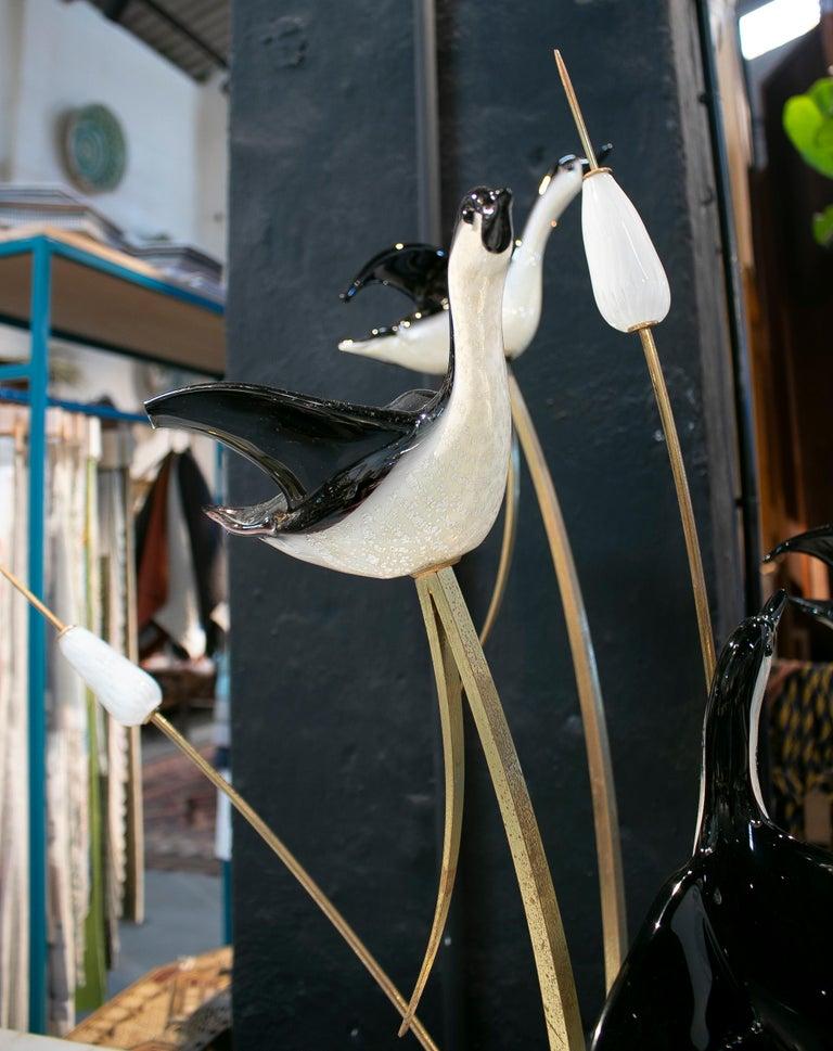 Lucio Zanetti Italian Venetian Murano Glass Figure Sculpture of Goose For Sale 8