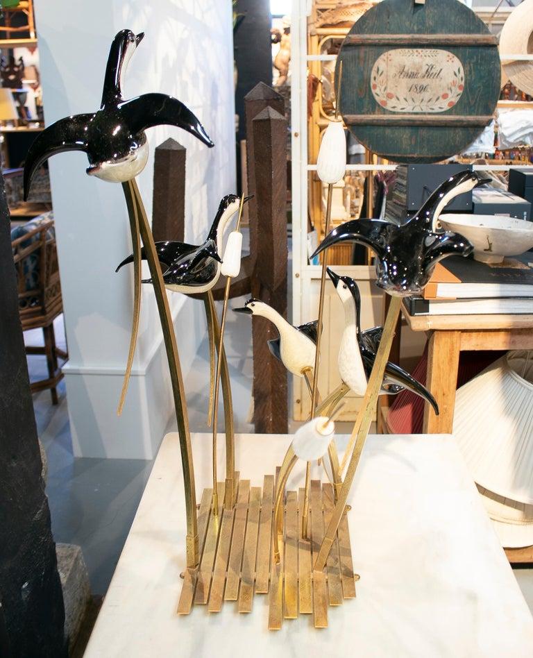 Lucio Zanetti Italian Venetian Murano Glass Figure Sculpture of Goose In Good Condition For Sale In Malaga, ES