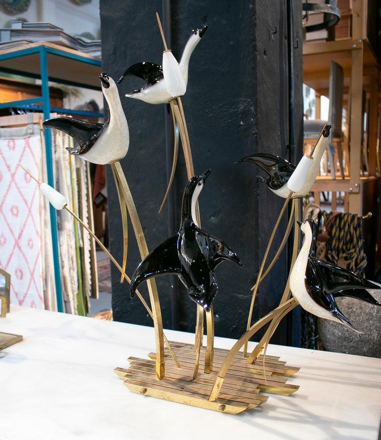 20th Century Lucio Zanetti Italian Venetian Murano Glass Figure Sculpture of Goose For Sale